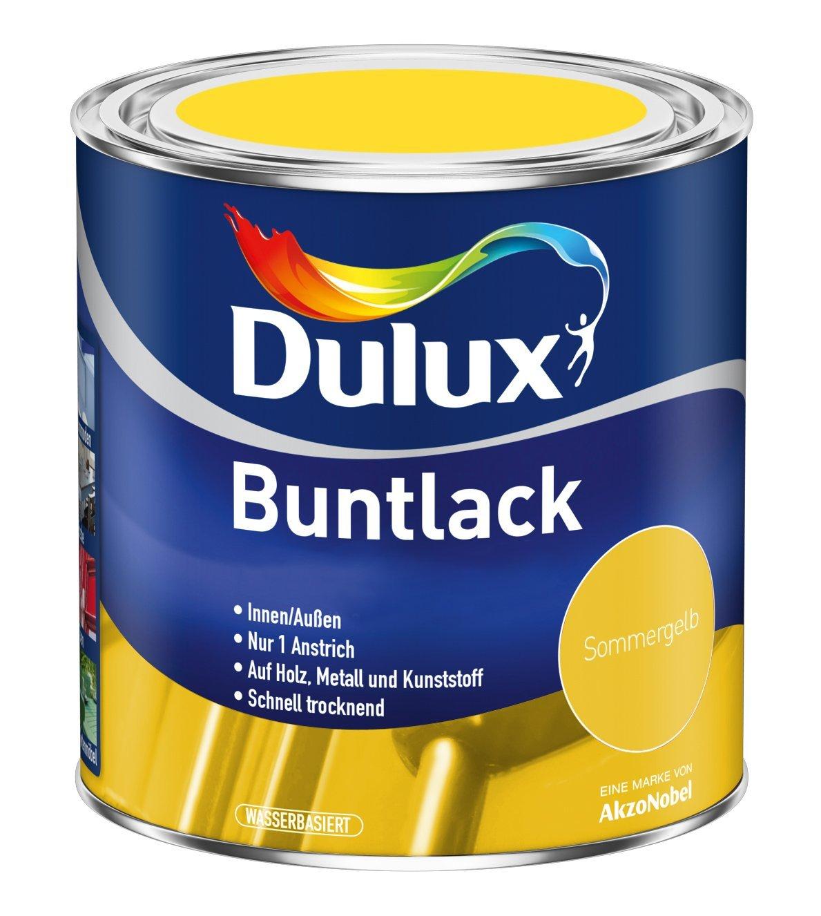 5 x 500 ml Dulux Buntlack Glänzend für innen und außen  2,5 Liter Farbton Wählbar