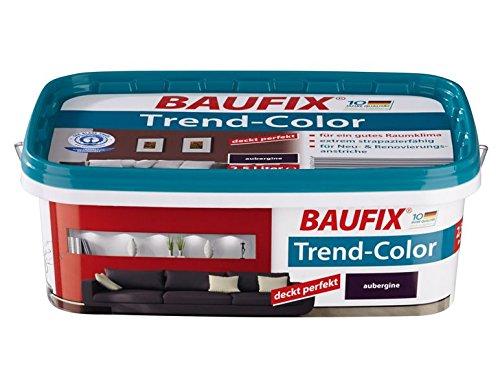 Baufix Wandfarbe Trend-Color farbton wählbar, seidenmatt 2,5 Liter