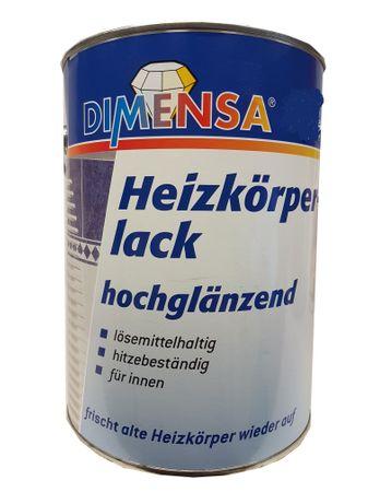 Dimensa Heizkörperlack Hochglänzend Weiß 2,5 Liter