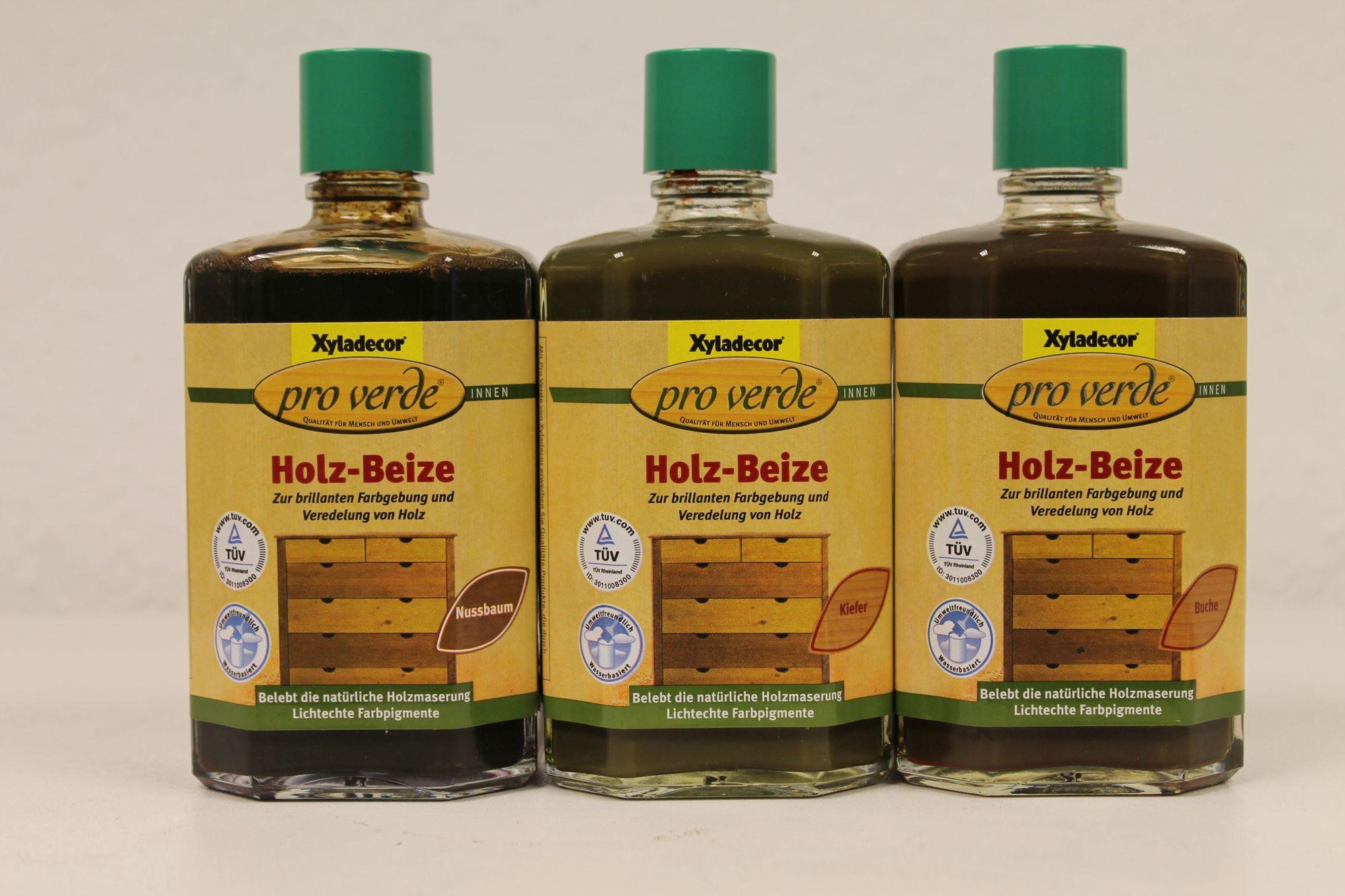 2 x 0,25 Liter Xyladecor  Pro Verde  Holzbeize Farbwahl 0,5 Liter