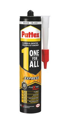 2 x 390 g Pattex Expresskleber 1 one for All weiß 780 g
