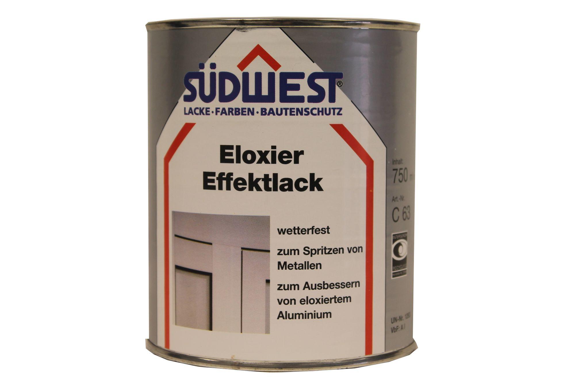 Südwest Eloxier Effektlack C63 seidenglänzend 8620 mittelbraun 0,75 l