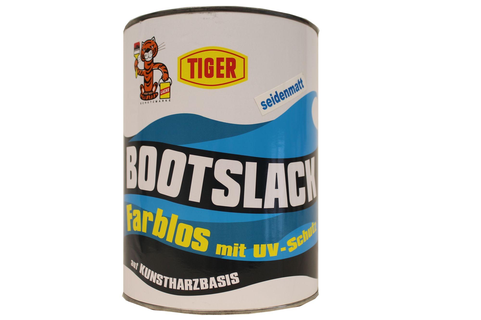 Tiger Bootslack Yachtlack UV-Schutz  lösemittelhaltig seidenmatt Farblos 2,5 L
