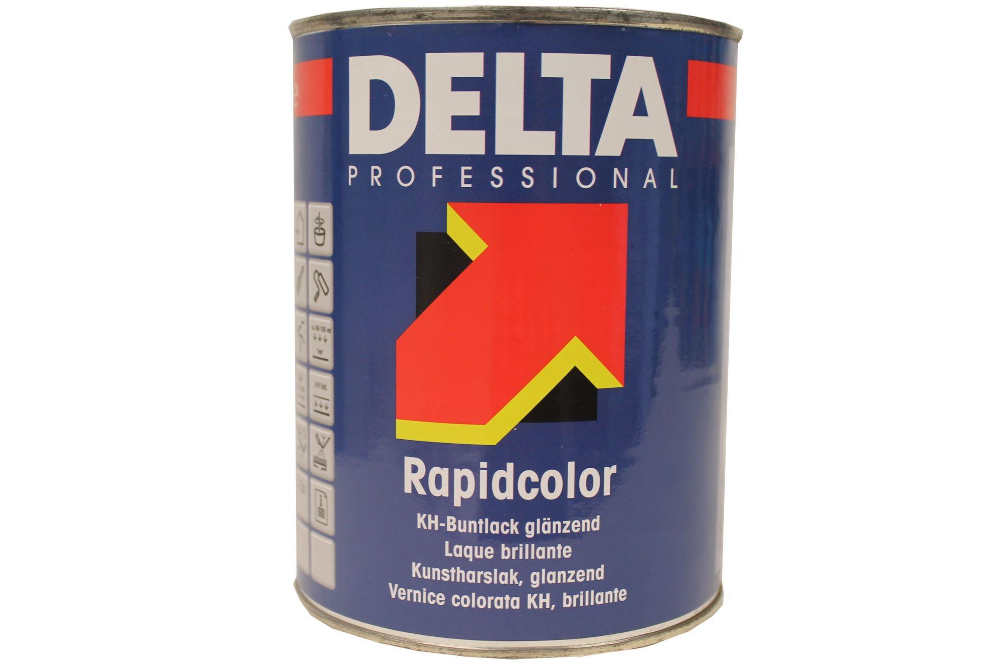 Delta Professional Rapidcolor KH-Buntlack innen/außen lösemittelhaltig 1 Liter Farbwahl