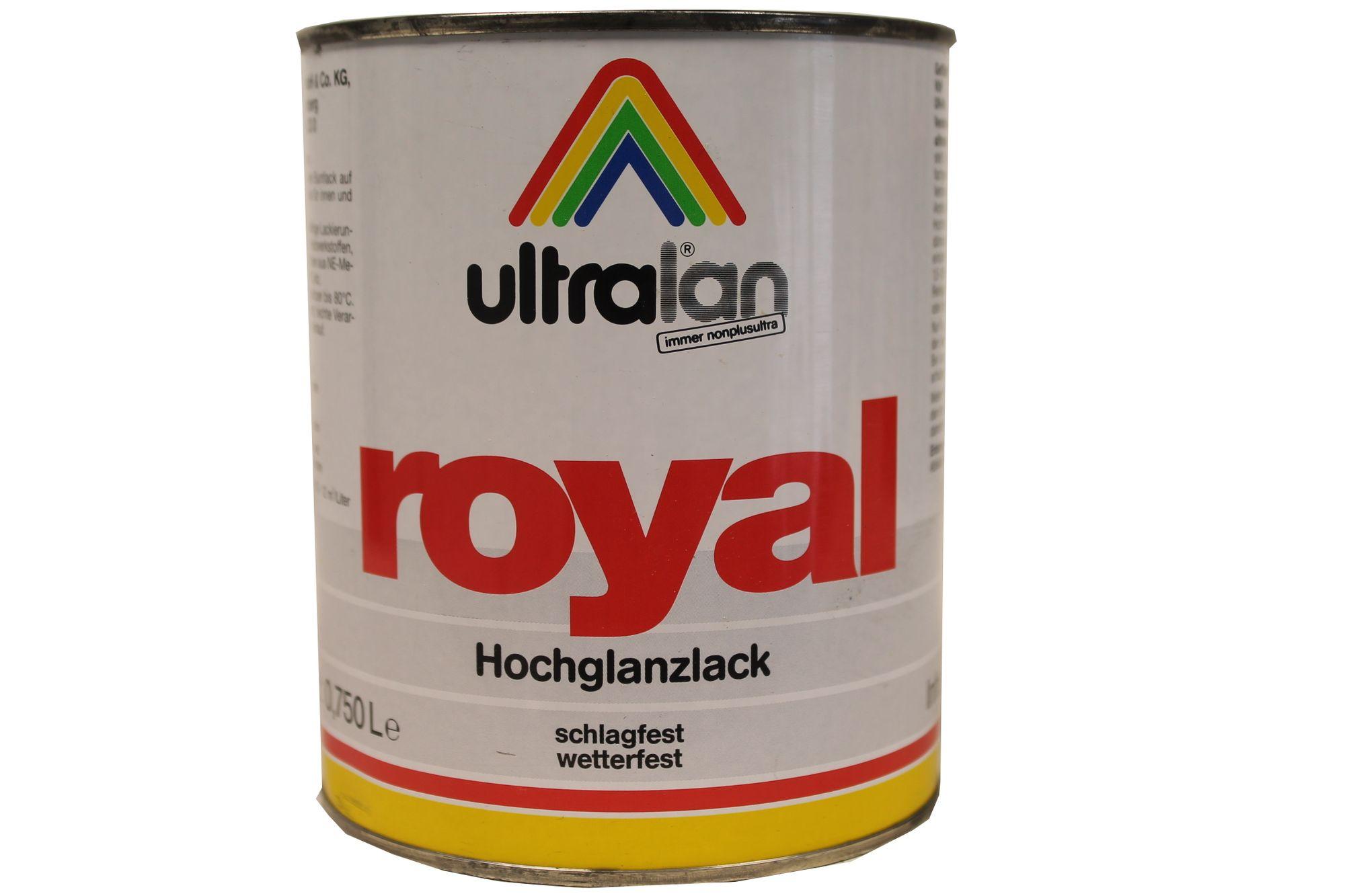 Ultralan Royal Hochglanzlack innen/außen lösemittelhaltig 2,5 Liter Farbwahl