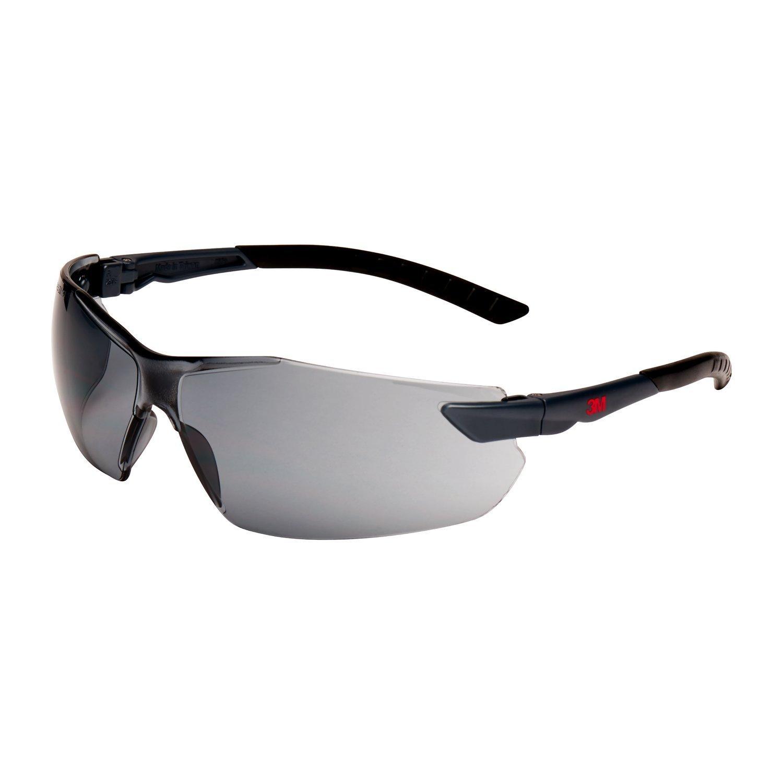 2 x 3M 2821 Schutzbrille AS/AF/UV/PC Grau Getönt 2 Stück