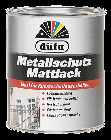 Düfa Metallschutz Mattlack Spezial-Alkydharz Lösemittelhaltig Schwarz innen und außen 0,75 ml