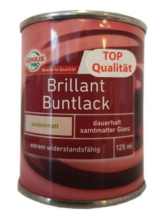 10x125 ml Genius Pro Brillant Buntlack innen/außen Seidenmatt lösemittelhaltig 1,25 L Farbwahl