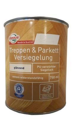 Genius Treppen & Parkett Versiegelung Glänzend PU-Verstärkt Lösemittelhaltig Innen 0,75 Liter