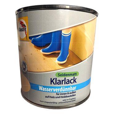 Glasurit Klarlack Wasserverdünnbar 375 ml Farblos Seidenmatt, innen & außen