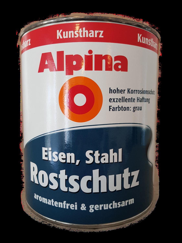 Alpina Eisen Stahl Rostschutz  Grau Kunstharz 2 Liter