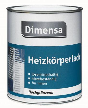 Dimensa Heizkörperlack Hochglänzend Weiß 0.75 Liter