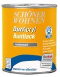Schöner Wohnen DurAcryl Buntlack Seidenmatt 0,75 L Farbwahl 001
