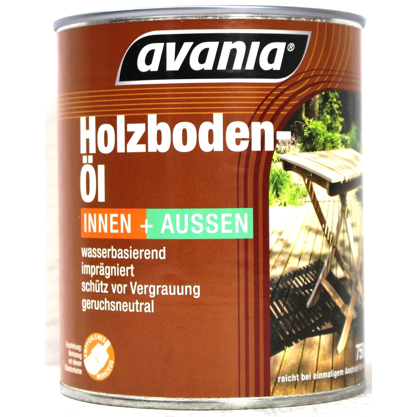 Avania Holzboden Öl für Inne & Außen Farbton Hell 2,5 Liter