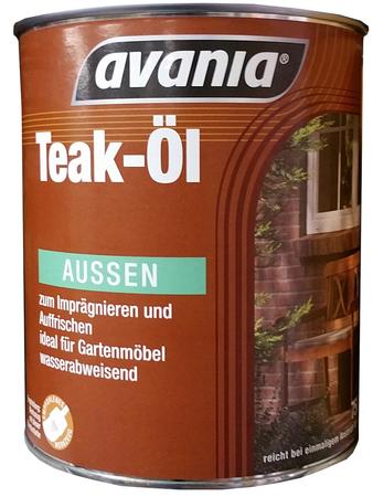 Avania Teak-Öl Zum Imprägnieren 2,5 Liter , reicht bei einmaligem Anstrich für ca. 33 m2